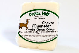 goat muenster with green olives cheese